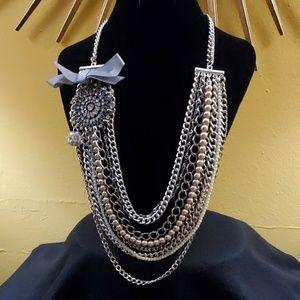 LOFT Multistrand Rhinestone Necklace #564